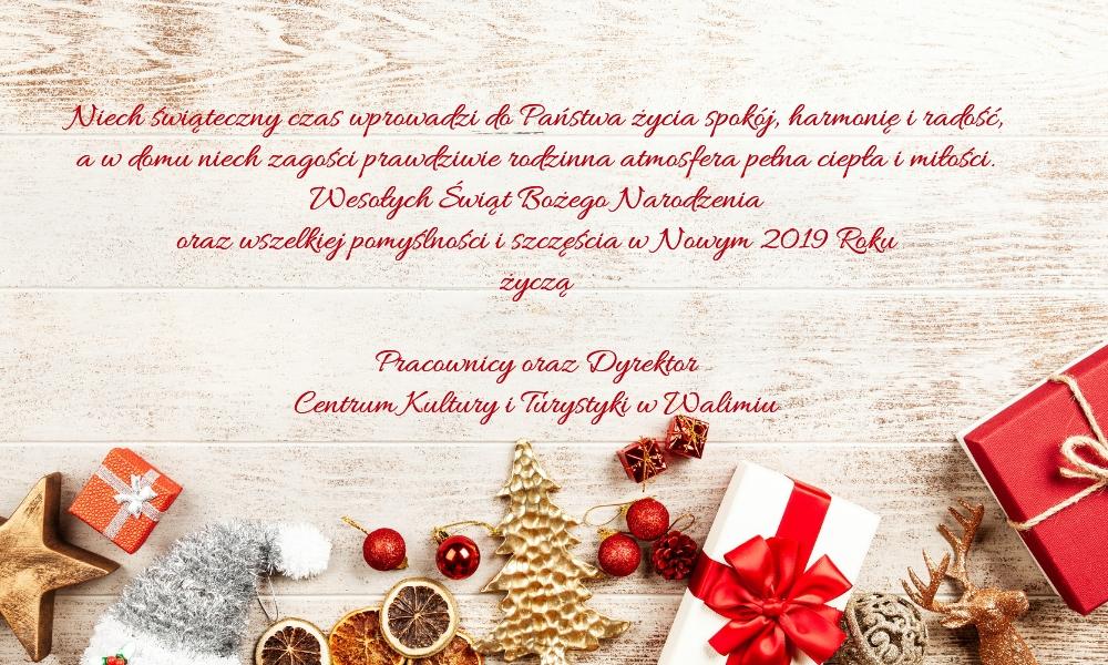Spokojnych świąt Bożego Narodzenia I Szczęścia W Nowym 2019 Roku
